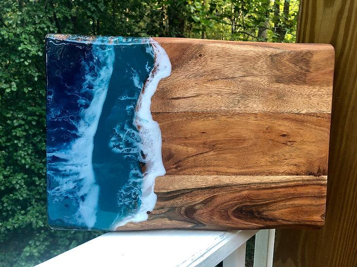 Medium Sheesham Wood and Resin Charcuterie Board 2