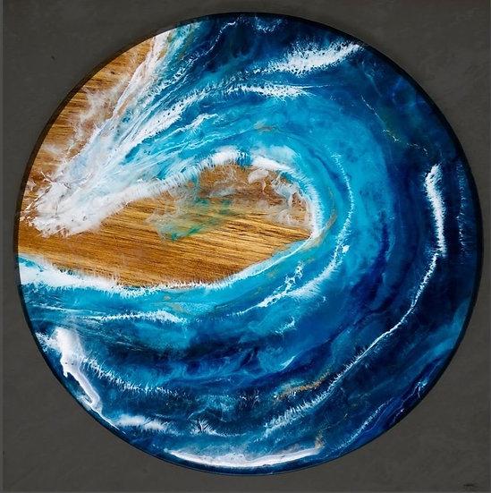 Ocean Wave Lazy Susan Large