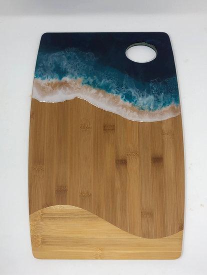 Large Bamboo and Ocean Resin Cheeseboard