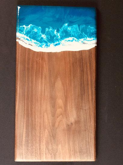 """Turquoise Walnut Ocean Board 20"""""""