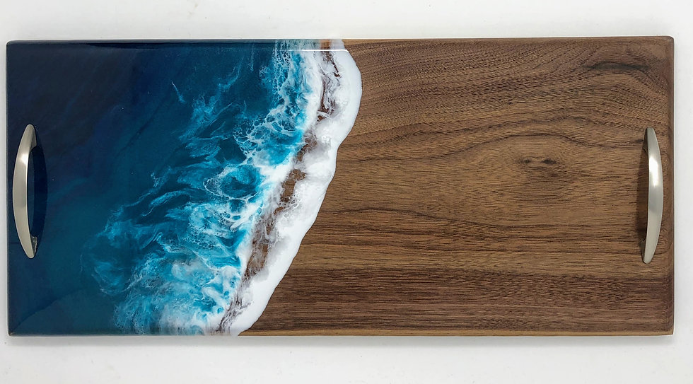 Walnut Ocean Board With Handles