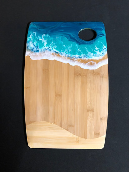 Large Bamboo and Ocean Resin Cheeseboard 2