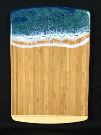 Large Bamboo and Mermaid Resin Cheeseboard