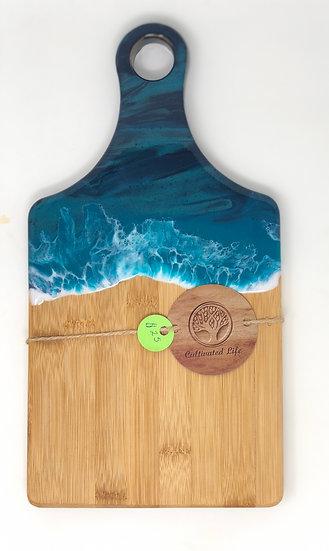 Small Bamboo and Ocean Resin Cheeseboard 2