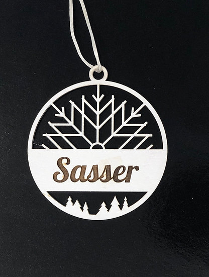 Snowflake and Name Ornament 2020