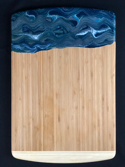 Blue and Silver Resin Cheeseboard