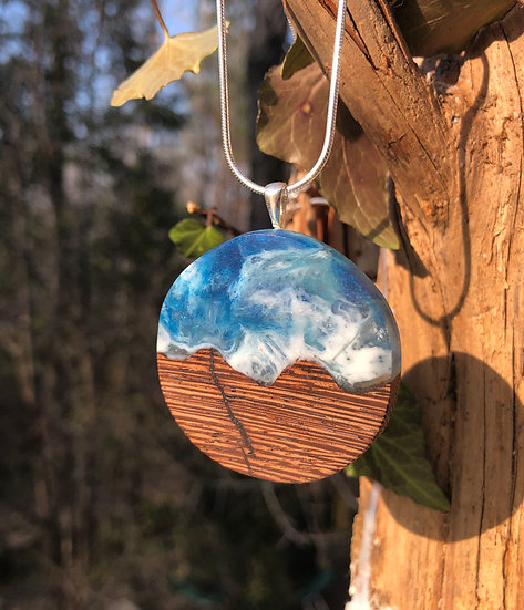 Hills and Sky Round Pendant