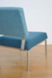 Fauteuil design bleu turquoise