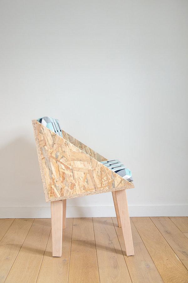 Chaise design en bois