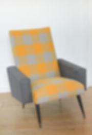 Fauteuil vintage jaune orange