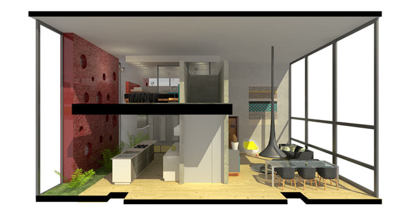 Aménagement 3D appartement