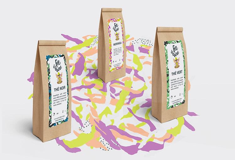 Packaging sachets de thé Desamble pour Fée d'Ebène