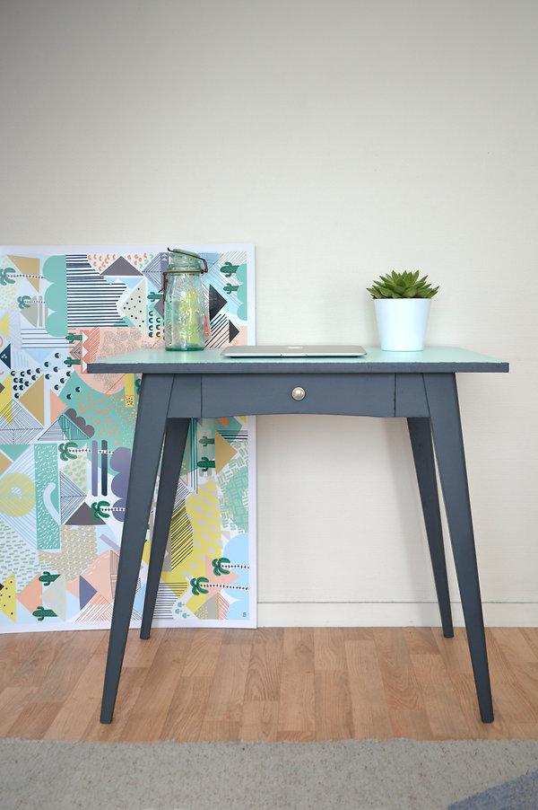 Table de bureau vintage