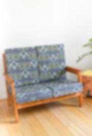 Canapé 2 places vintage en bois
