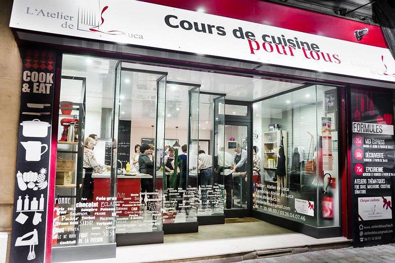 Cours de cuisine Atelier de Luca Reims