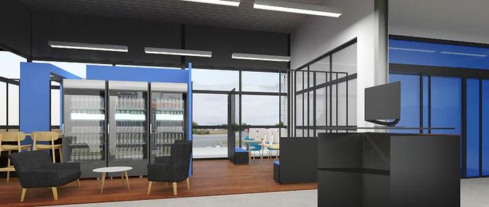 Projet d'aménagement open espace decathlon