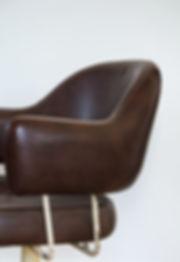 Fauteuil vintage cuir marron