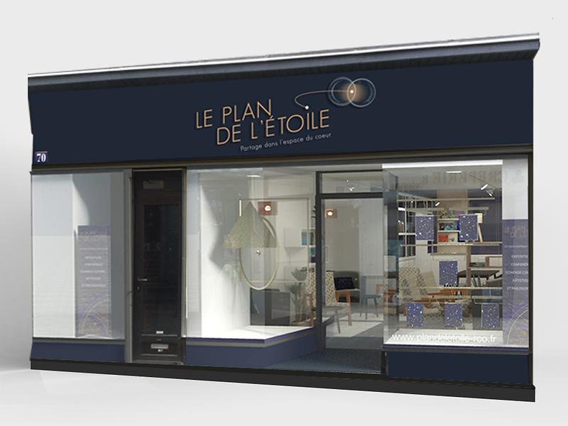 Habillage façade boutique à Poitiers
