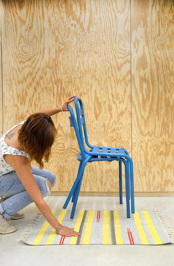 chaise métal industriel