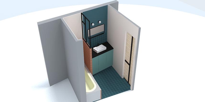 STUDIO DESAMBLE // Aménagement salle de bain petit espace
