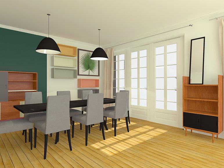 Projet 3D aménagement intérieur Paris