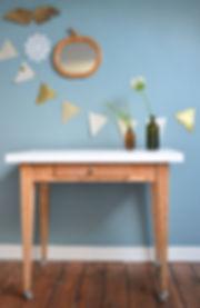 Table en bois roulettes