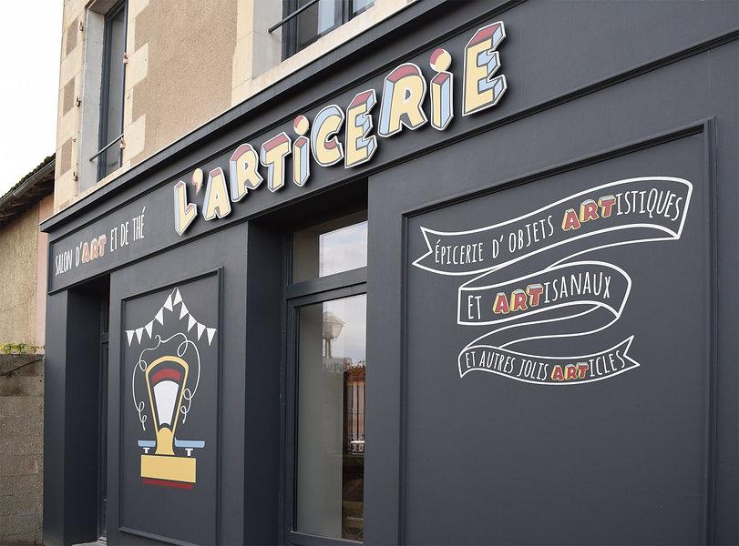 Habillage façade boutique Angoulême