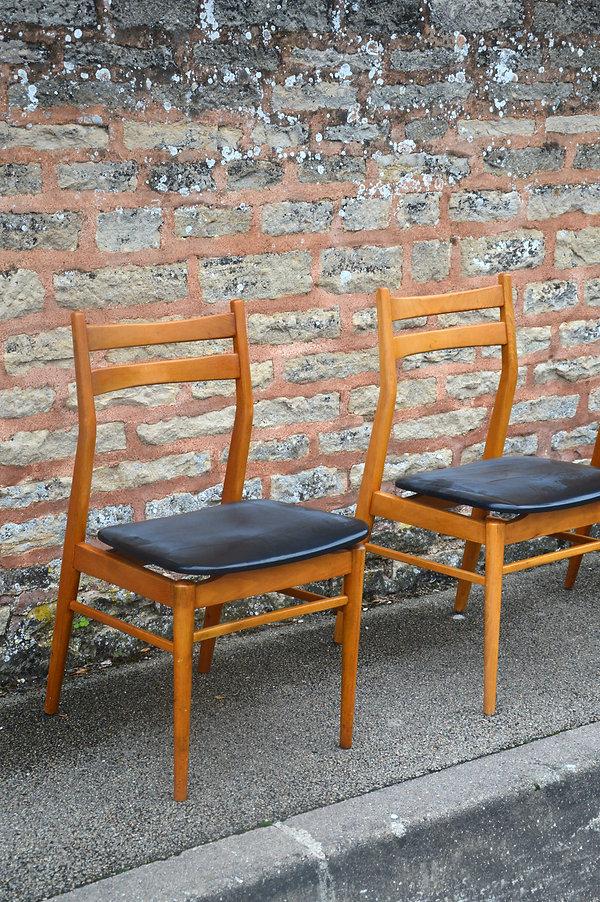 chaise scandinave noir pas cher