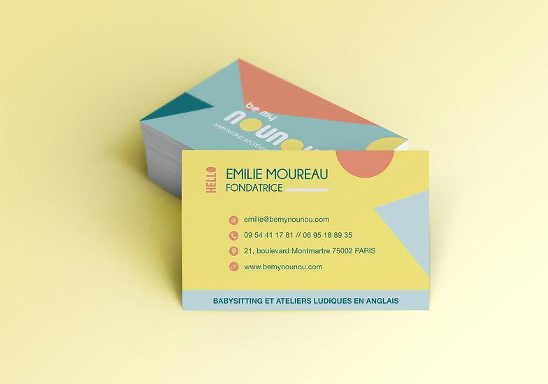 Création cartes de visite // Be my Nounou