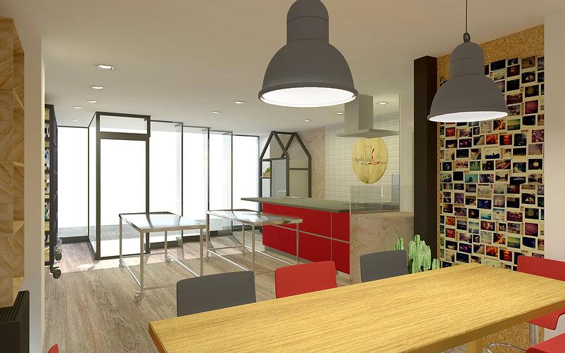 Projet architecture Reims Cours de cuisine Atelier de Luca
