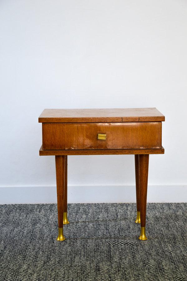 table chevet vintage