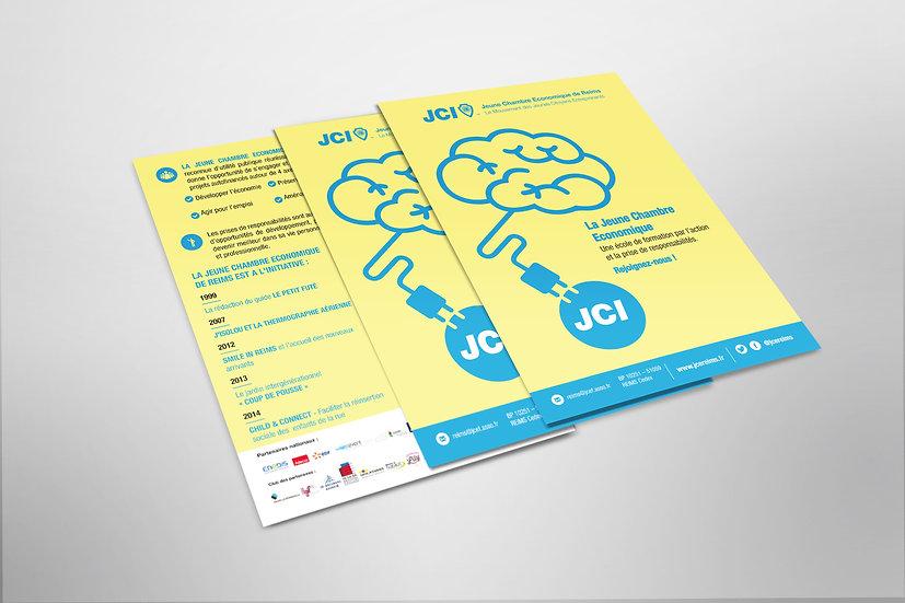 Flyer association Jeune Chambre Economique (JCE / JCI)