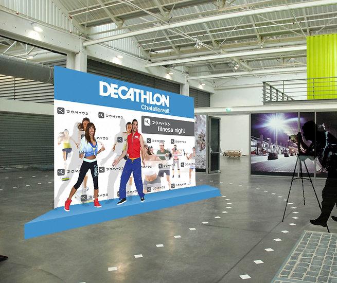 Création de fond de scène / photocall Decathlon