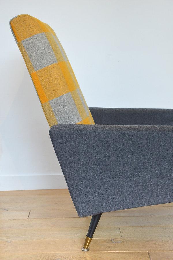 Fauteuil de tapissier moderne