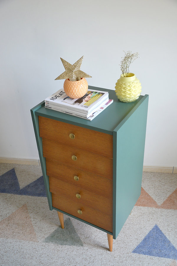 commode vintage relookée