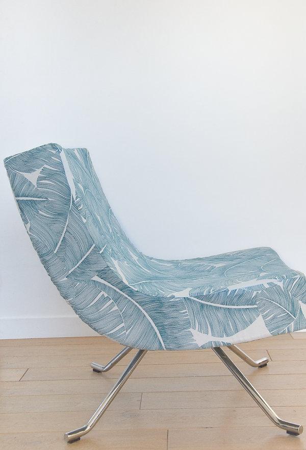 Fauteuil design tissu palmier