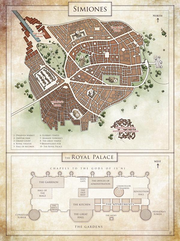 carte de ville fantasy