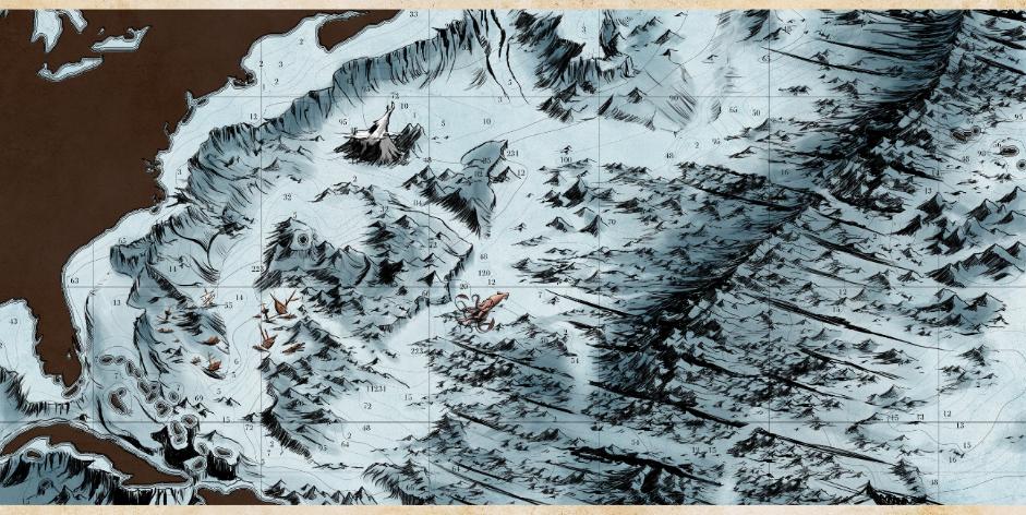 Carte des fonds marins