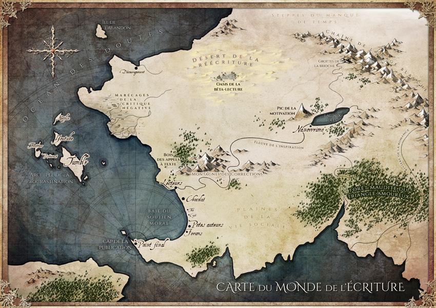 Carte du monde de l'écriture - 2018