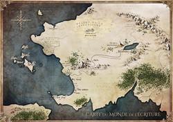 Carte du monde de l'écriture