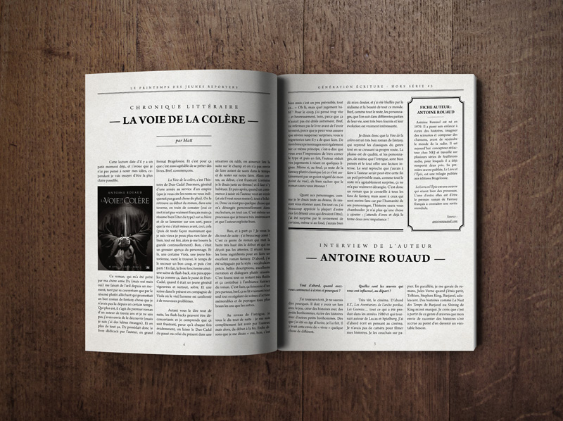 Magazine graphic charter and layout