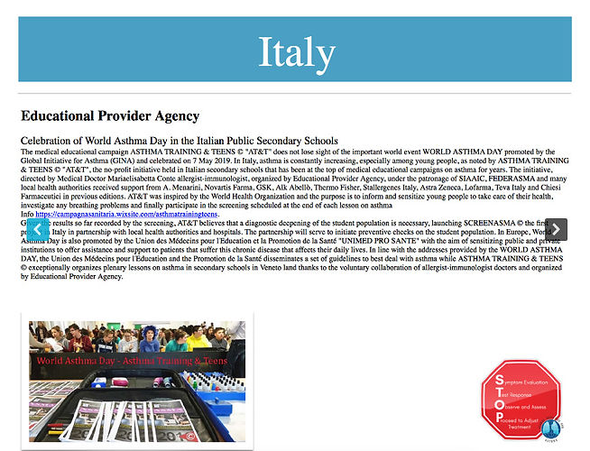 Italy Celebration_World Asthma Day 7 may
