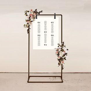 seating plan wedding stationery signage sign