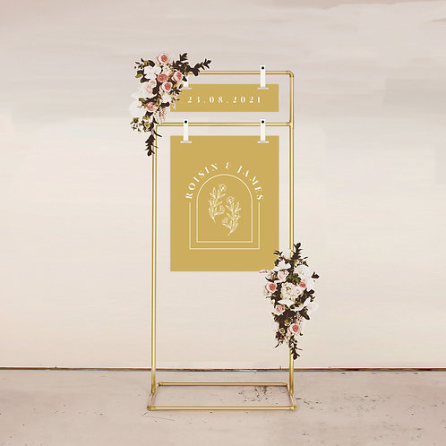 Alchemy Two Piece Welcome Sign