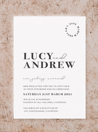 VOGUE WEDDING STATIONERY COLLECTION INVI