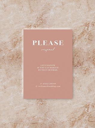 BLOC wedding invitation rsvp card