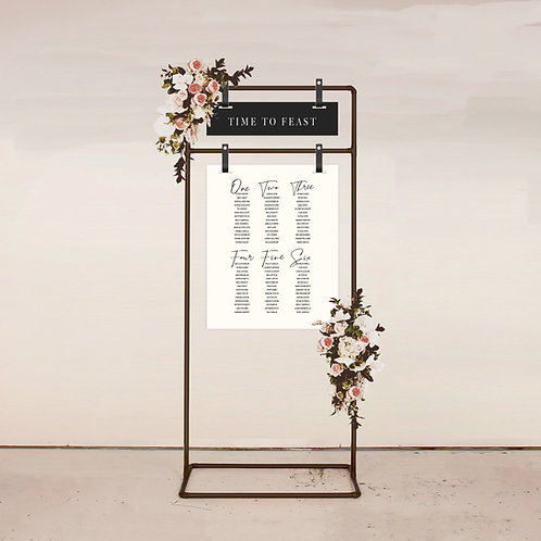 Strobe Two Piece Seating Chart
