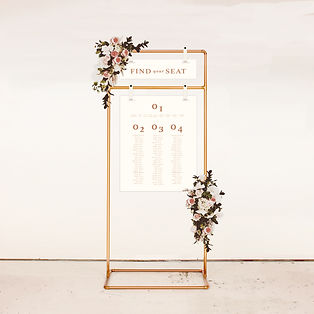 SEATING CHART FROM THE BOHO WEDDING STAT