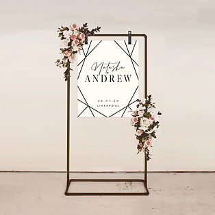 WELCOME SIGN wedding stationery