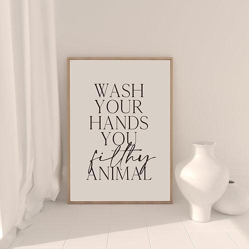 'Wash Your Hands' Art Print